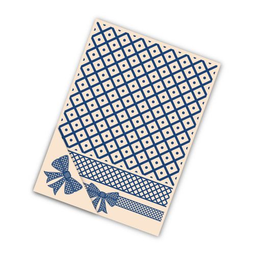 Tattered Lace Embossing Folder Set - Lattice Bow